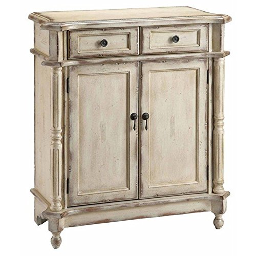 Stein World Furniture Heidi Accent Chest, Antique White - Dining Room Painted Cabinet