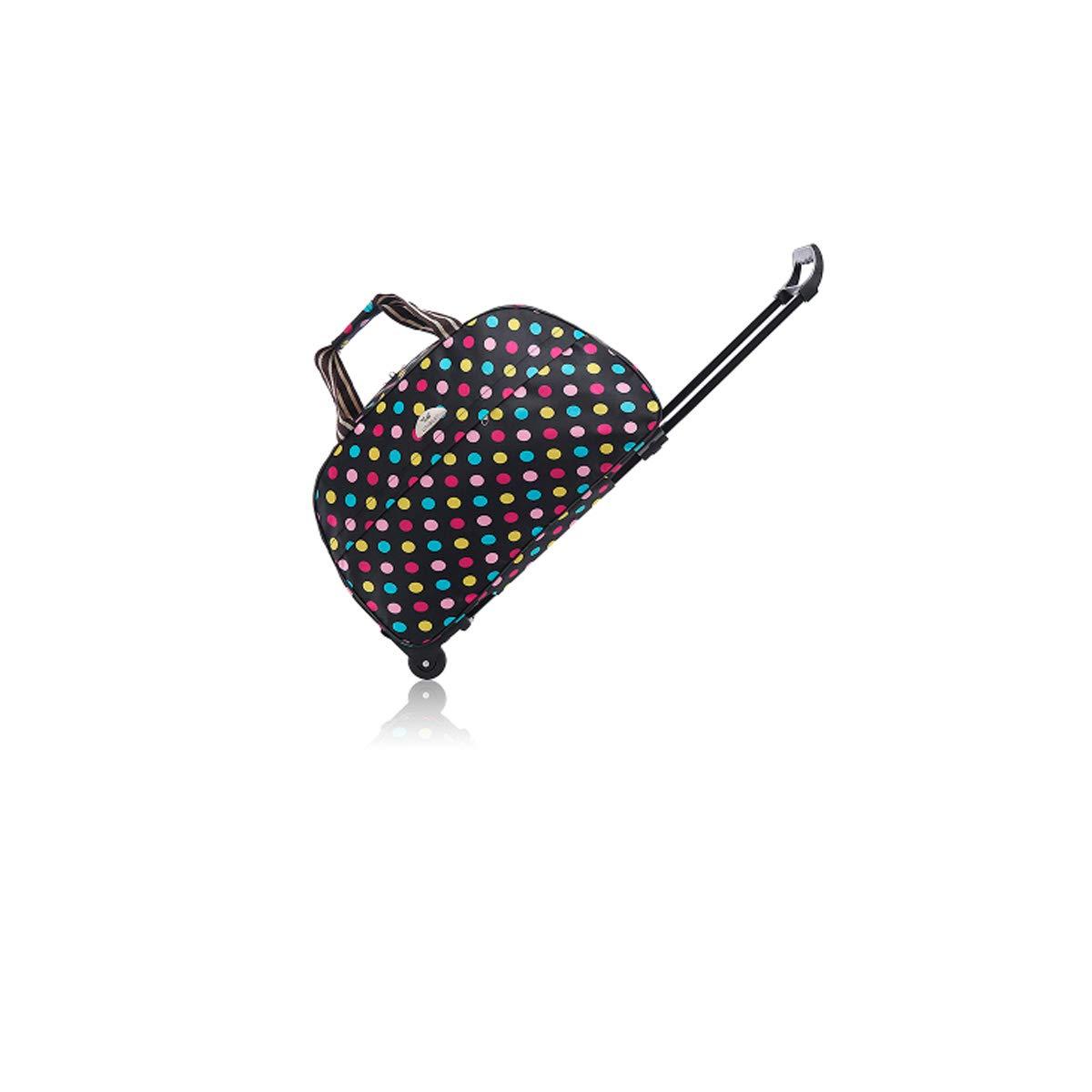 20 inches Color : Colored dots, Size : 20 Soft Bag Travel Storage Bag Travel case Suitcase,Handbag Bahaowenjuguan Trolley case