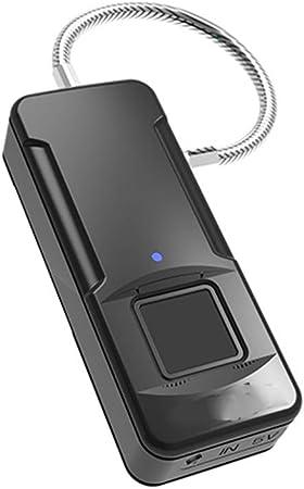 FADWDS Candado Huella Dactilar Bloqueo biométrico Inteligente para Funciona Unlock by Fingerprints/Bike Smartphone Mochila Locker Gabinete Cajón: Amazon.es: Deportes y aire libre