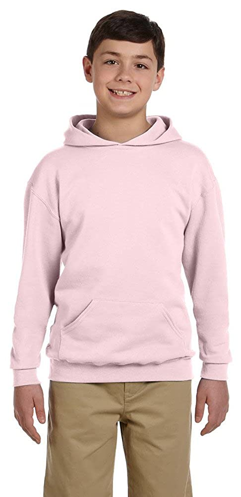 50//50 NuBlend Fleece Pullover Hood Jerzees Youth 8 oz. 996Y CLASSIC PINK