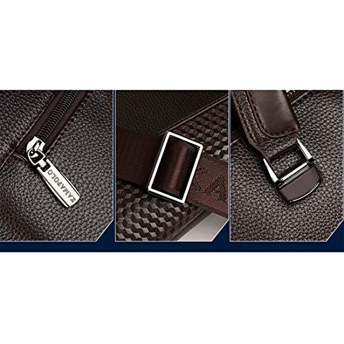 Borsa Laptop Pelle Riunioni Borse Cartella Pollici In Coffee Per Messenger Da Uomo Grxxx 14 Color Lavoro wEqtXxCE