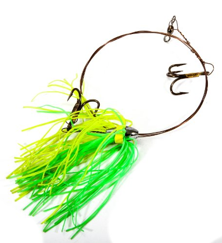 Boone Duster Rig (2# 4 Treble Hook), Light Green/Chartreuse