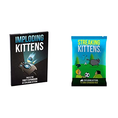 Imploding Kittens: This is The First Expansion of Exploding Kittens & Streaking Kittens: This is The Second Expansion of Exploding Kittens: Toys & Games