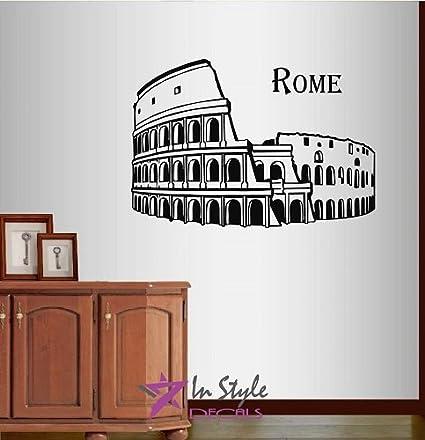 Wall Vinyl Decal Home Decor Art Sticker Rome Coliseum Colosseum Italy  Antique Amphitheater Architecture Tourism Travel - Amazon.com: Wall Vinyl Decal Home Decor Art Sticker Rome Coliseum