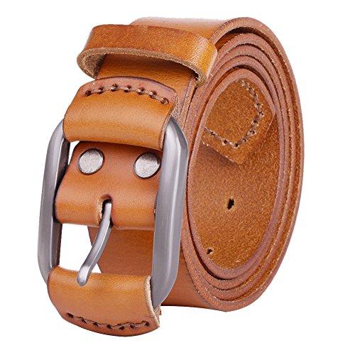 vbiger-vintage-mens-belt-1-1-2-38mm-wide-genuine-leather-smooth-bridle-waist-strap-camel