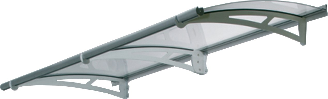 Palram HG9510 Aquila Door and Window Awning, 7 L x 3 W x 6.5 H, Gray Clear