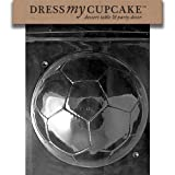 Dress My Cupcake Chocolate Candy Mold, Soccer Ball-Piece 2