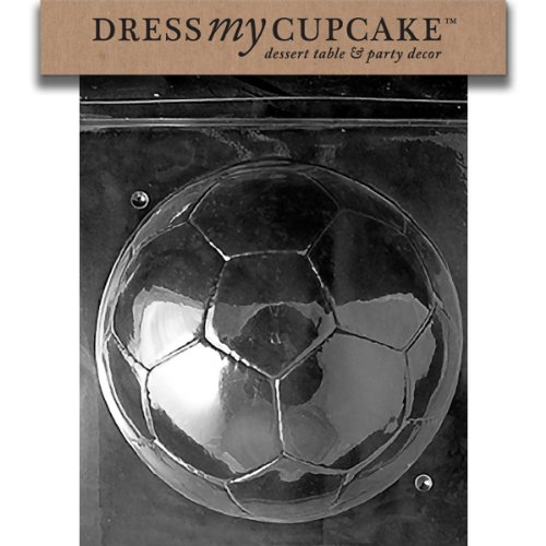 Dress My Cupcake Chocolate Candy Mold, Soccer Ball-Piece 2 by Dress My Cupcake
