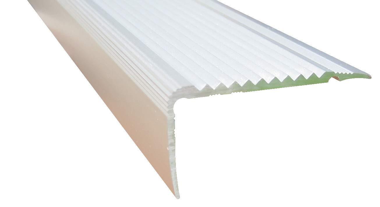 23 mm x 45 mm x 80 cm Silber verschiedene Gr/ö/ßen Treppenkanten Winkelprofil Treppenwinkelprofil Treppenprofil Treppenstufenprofil