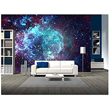 Wall26   Star Field In Space A Nebulae And A Gas Congestion   Removable  Wall Mural | Self Adhesive Large Wallpaper   100x144 Inches