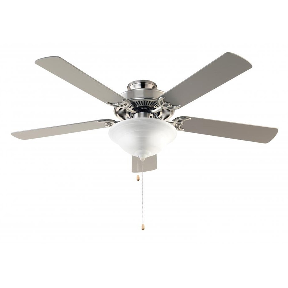Trans Globe Imports F-1000 BN Transitional 52 Ceiling Fan from Solana Collection in Pwt, Nckl, B S, Slvr. Finish, 52.00 inches, Brushed Nickel