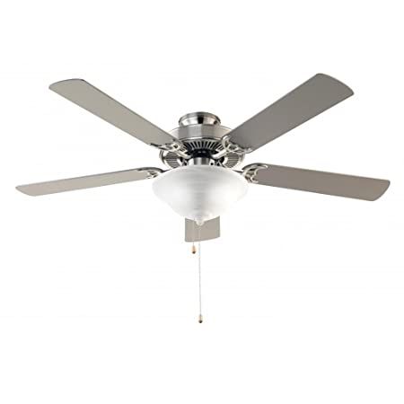 Trans Globe Lighting F-1000 BN Indoor Solana Ceiling Fan, Brushed Nickel