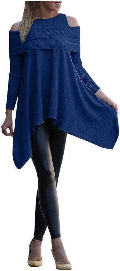 TwoCC Camiseta de Talla Grande para Mujer Tops Casual Color sólido ...