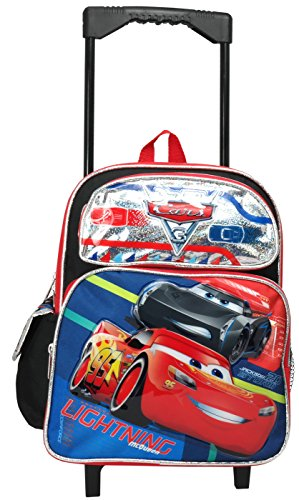 Disney Pixar Cars 12'' Toddler Mini Rolling Backpack by Cars