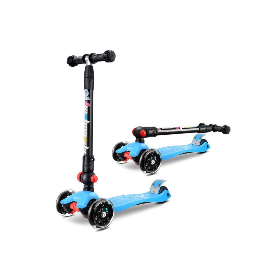 優先配送 TLMYDD : 子供用折りたたみスクーター子供用三輪スクーター四輪点滅スライド、25x58x89cm 青 子供スクーター 青 (色 : Red) B07NRPXQ7G 青 青, 牛久シャトー:d962ce05 --- a0267596.xsph.ru