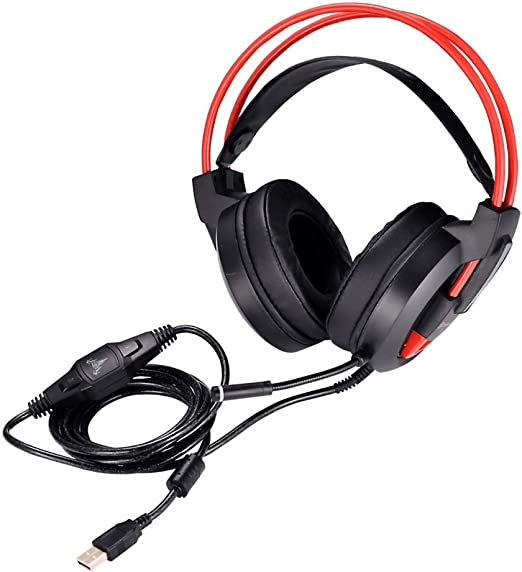 HKJCC Gaming Headset USB Interface Headset for The Game to Create a Black Noise Reduction Compatible with a Variety of Systems of Wired Gaming headsets