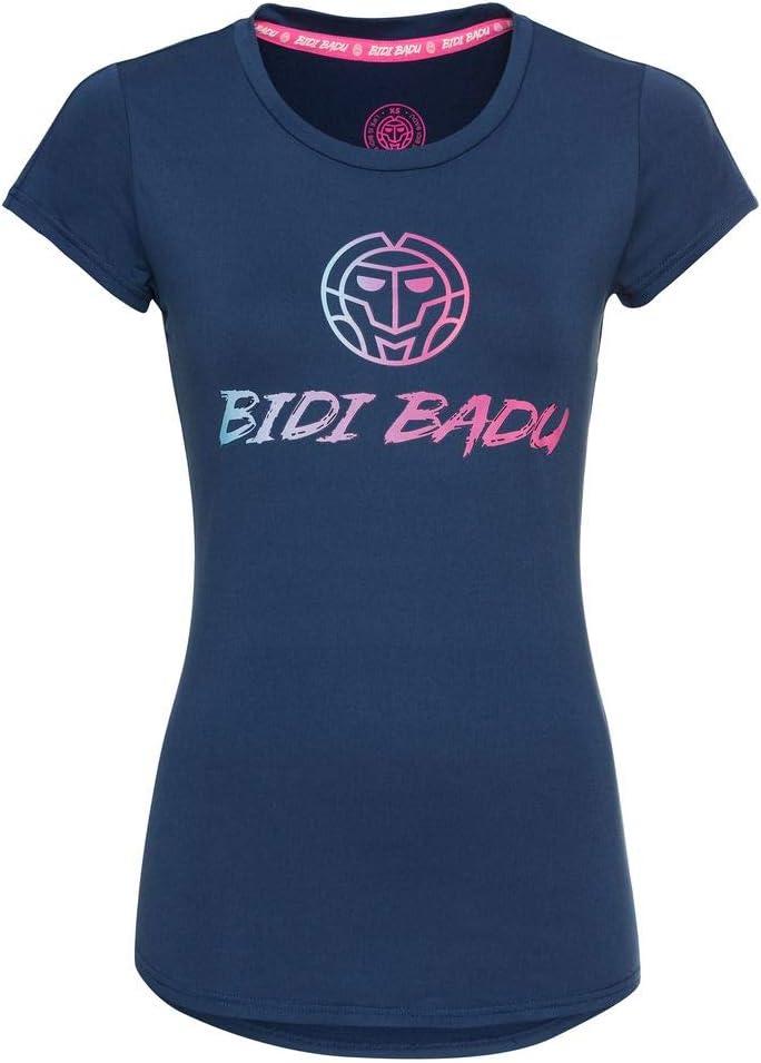 BIDI BADU Damen T-Shirt-Coletta Basic Logo tee-Dark Blue, GRÖßE: XL Camiseta, Mujer, Azul, Extra-Large