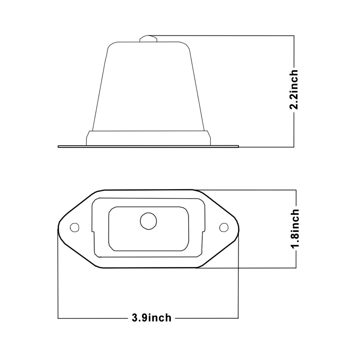 Waterproof Convenience Courtesy Light for Trailers Trucks /& Boats License Tags RV OTTOSUN 1pc License Plate Light Heavy Duty Gray Housing SAE//DOT Certified