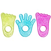 Munchkin Fun Ice Chewy Teether, 3 Pack, Blue/Green/Pink