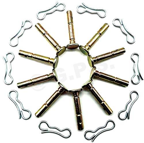 0.25 X 1.75 Gavin parts shop 738-04155 Shear Pins /& 714-04040 Cotter Pins for MTD Cub Cadet Snow Blower 10 Set