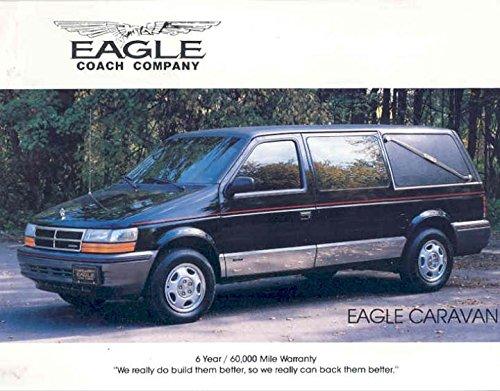 Amazon Com 1991 Dodge Eagle Caravan Hearse Mini Van Brochure