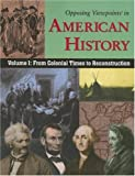 From Colonial Time to Reconstruction, , 0737731850