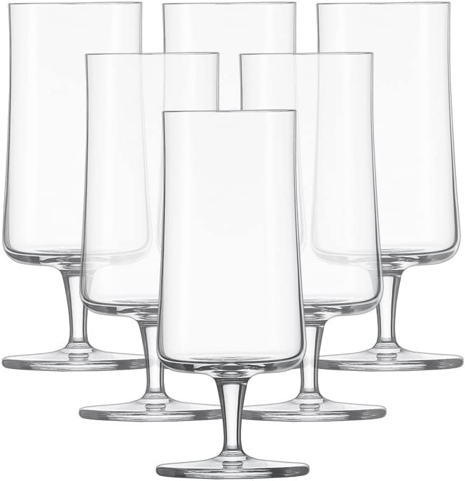 Schott Zwiesel Basic Pilsner - Vasos de cerveza (6 unidades), cristal, Transparente, 7.6 x 7.6 x 17.8 cm