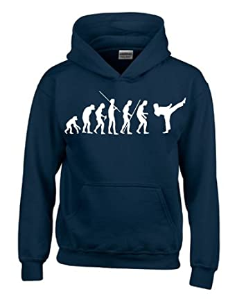 karat/é taekwondo jiujitsu a/ïkido Sweat-shirt /à capuche pour enfant motif /évolution karat/é taille 128 164/cm judo kick boxing