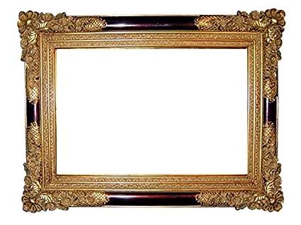 abb6c4923a1d Amazon.com - Black and Gold Antique Victorian 38x28 Frame -