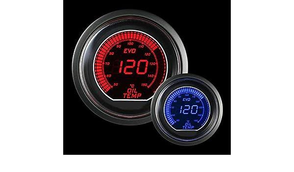 Prosport Universal Evo Metric Series 52mm Oil Temperature Gauge 50-250 C