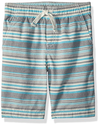 Gymboree Boys' Little Easy Shorts, Heather Grey Stripe, 10 (Short Stripe Waist)