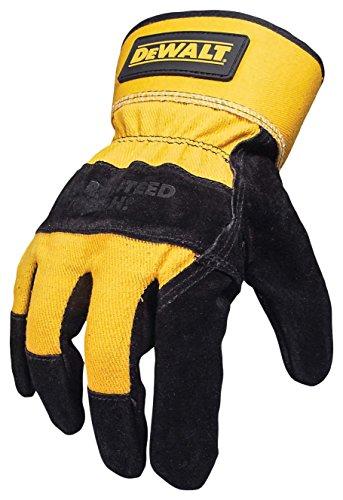 Dewalt Leather Work Gloves (Dewalt DPG41 Premium Split Cowhide Lather Palm Glove Black/Gray)