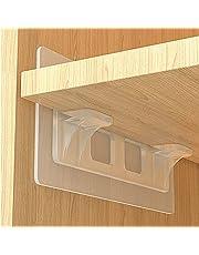 zelfklevend plankdrager, in L-vorm voor kasten meubels, geen boren voor tegels muren kasten schoenenrekken met laadcapaciteit 15--20 kg