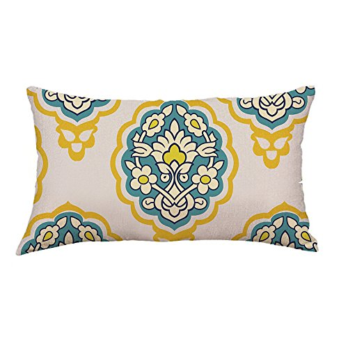 GOVOW Pillow Case Protector with Zipper Gold Foil Printing Sofa Waist Throw Cushion Cover Home Decor