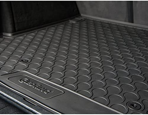 Gledring GLED-BL-1037 Custom Tailored Fit Black All Weather Rubber Boot Liner with Lowered Boot Floor