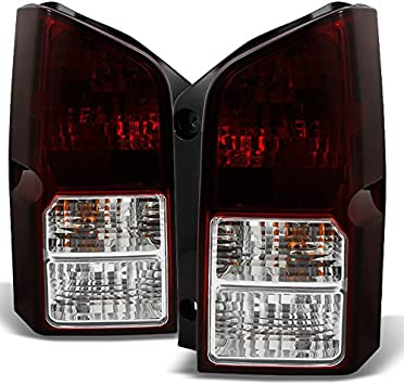 Fits Pathfinder SUV Red Clear Rear Tail Light Brake Lamp Brake Lights Driver Left Side Replacement