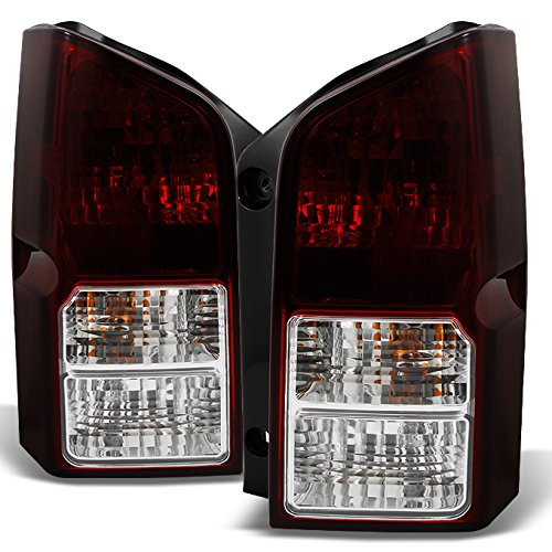 Fits Pathfinder SUV Dark Red Tail Lights Brake Lamp Driver Left + Passenger Right Replacement Pair