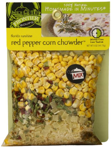 Frontier Soups Homemade In Minutes Florida Sunshine Red Pepper Corn Chowder, 5-Ounce Bags (Pack of 4)