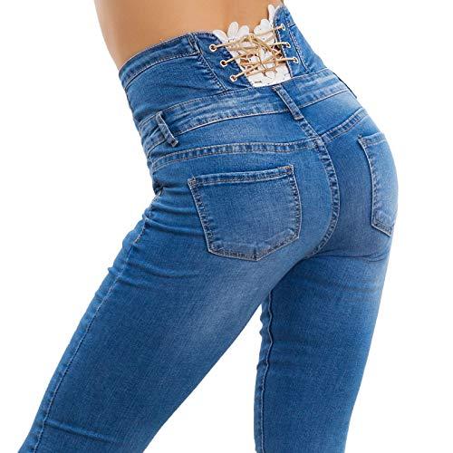 Skinny Bleu Femme ToocoolJeans Denim Xs AjL534Rq