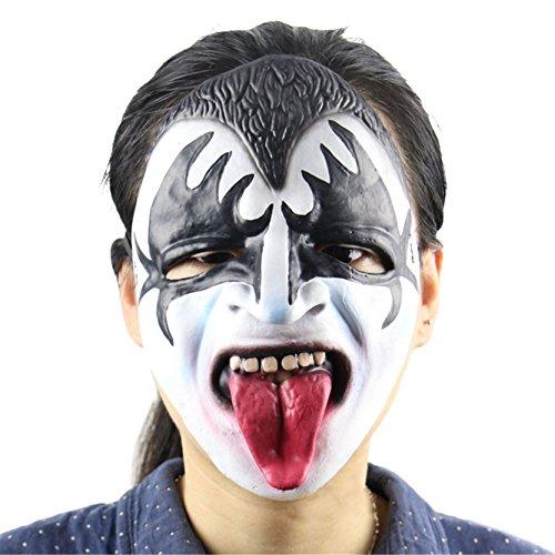 (1 Piece Halloween Scary Mask Long Tongue Zombie Clown Latex Masks Vampire)