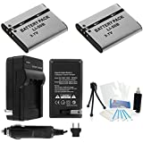 2-Pack LI-50B High-Capacity Replacement Batteries with Rapid Travel Charger for Select Olympus Stylus Tough Series Digital Cameras. UltraPro Deluxe Accessory Set Included