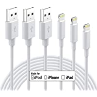 iPhone Charger Apple MFi Certified - Lightning Cable 3Pack 3ft 6ft 10ft Durable Lightning to USB A Charging Cable for…