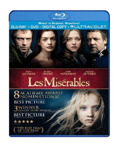 Blu-ray : Les Miserables (With DVD, Ultraviolet Digital Copy, Digital Theater System, , 2 Pack)
