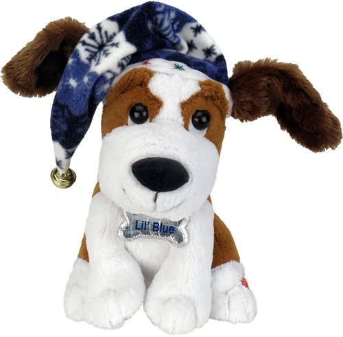 Chantilly Lane 10'' Littile Blue Dog with Flapping Ears Sings ''Blue Christmas'' by Chantilly Lane