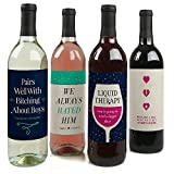 Break Up - Wine Bottle Labels for a Breakup - Set of 4