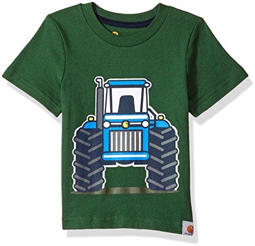 (Carhartt Baby Boys Short Sleeve Tee T-Shirt, Tractor (Greener Pastures) 3)
