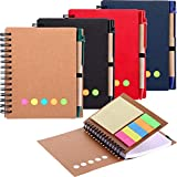 Best Pens With Notepad Sticky - Gejoy 4 Pieces Spiral Notebook Dot Grid Notepad Review