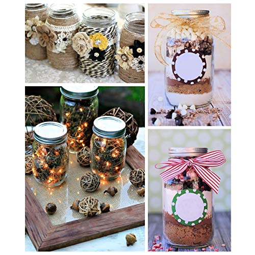 KAMOTA Mason Jars 16OZ With Regular Lids and Bands, Ideal for Jam, Honey, Wedding Favors, Shower Favors, Baby Foods, DIY Magnetic Spice Jars, 12 PACK, 20 Whiteboard Labels Included by KAMOTA (Image #6)