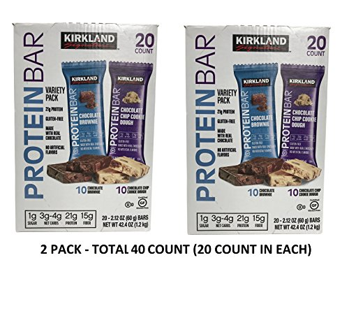 Chip Dough - Kirkland Signature Protein bar energy variety pack nAAGna, 2Pack (20 Count)