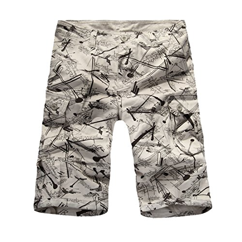 253616ce7d4 Hzcx Fashion Mens Washed Cotton Long Capris Multi-Pockets Casual Cargo  Shorts
